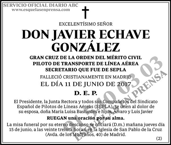 Javier Echave González